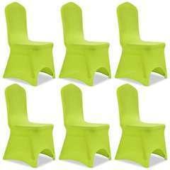 Housse de chaise extensible 6 pcs vert