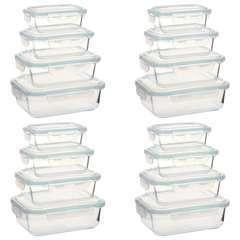 Récipients alimentaires en verre 16 pcs