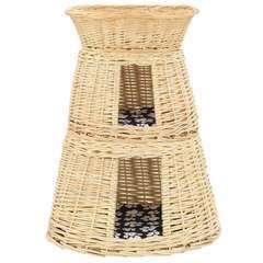 Ensemble de panier pour chats 3 pcs avec coussins - 47x34x60 cm