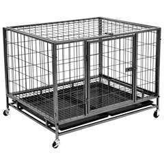 Cage robuste avec roues pour chiens Acier - 98x77x72 cm