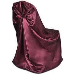 Housses de chaise pour banquet de mariage 12 pcs Bordeaux