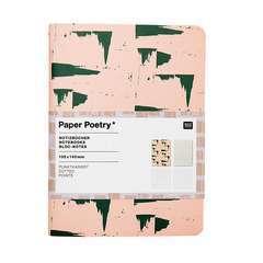 Bloc notes A6, Vive la Nature, rose et gris, 40 pages (set de 2)