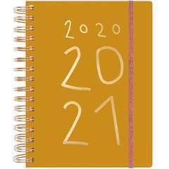 Agenda 2020-21, Vive la Nature, jaune moutarde, 16,5 x 22 x 2,5 cm