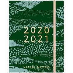 Agenda 2020-21, Vive la Nature, Vert, 14 x 18 x 2.5 cm