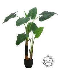 Plante philodenrdon alocasia artificielle 120 cm 2 troncs toucher réel