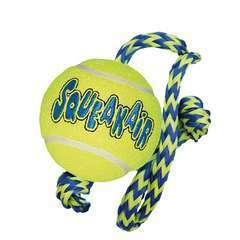 Balle à corde SqueakAir M pour chien KONG