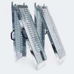 Lot de 2 rampes de chargement pliante acier 160 x22,5cm - 400 kg