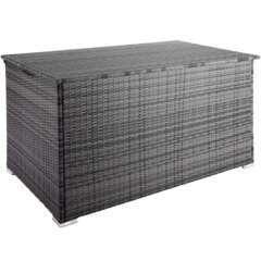 Coffre de jardin mobilier 145cm gris