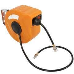 Enrouleur automatique pneumatique tuyau air comprimé 10 m avec support