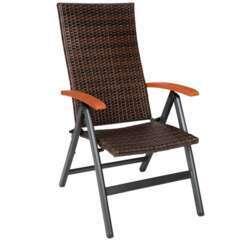 Fauteuil de jardin meuble pliable marron