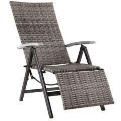 Fauteuil de relaxation avec repose-pieds gris