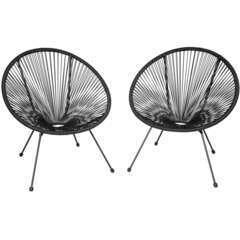 Lot de 2 chaises de jardin noir