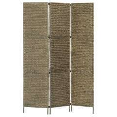 Paravent 3 panneaux brun jacinthe d'eau - 116x160cm
