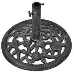 Pied socle base de parasol en fonte 35/38/48 mm 12 kg 48cm
