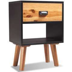 Table de nuit bois d'acacia massif - 40x30x58cm