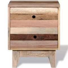 Table de nuit bois de récupération massif