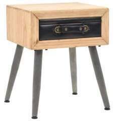 Table de nuit bois de sapin massif - 43x38x50cm