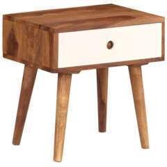 Table de nuit bois massif de sesham - 45x30x45cm