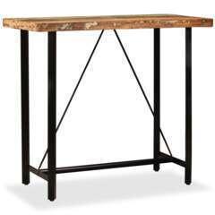 Table haute bar bois massif de récupération - 120cm