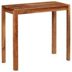 Table haute bar bois de sesham massif - 115cm