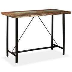 Table haute bar bois massif de récupération - 150cm