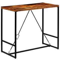Table haute mange debout bar bistrot bois recyclé solide - 120cm