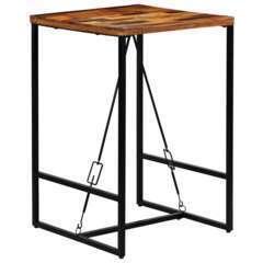Table haute mange debout bar bistrot bois recyclé solide - 106cm