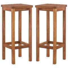 Tabourets de bar design bois d'acacia solide - Lot de 2