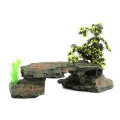 Décor Bonsai Stone  34x15,5x21CM Gris