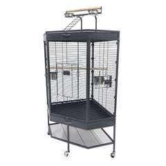 Cage d'angle Fortura pour Oiseaux et Perroquets