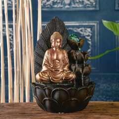 Fontaine d'Intérieur Bouddha Hartha avec Eclairage Led