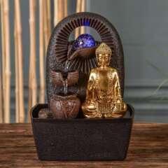 Fontaine d'Intérieur Bouddha Bhava avec Eclairage Led