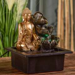 Fontaine d'Intérieur Bouddha Arya avec Eclairage Led