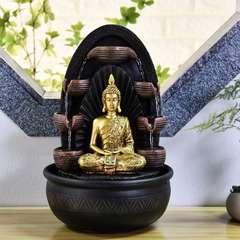 Fontaine d'Intérieur Bouddha Chakra avec Eclairage Led