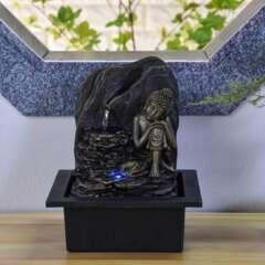 Fontaine d'Intérieur Bouddha Saoun avec Eclairage Led