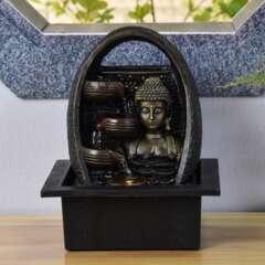 Fontaine d'Intérieur Bouddha Essan avec Eclairage Led