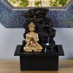Fontaine d'Intérieur Bouddha Shira avec Eclairage Led