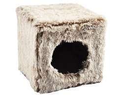 Cube Poilu Gris