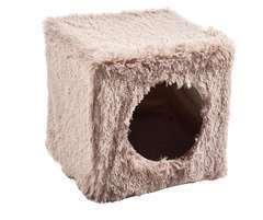 Cube Poilu Marron