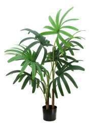 Palmier rhapis artificiel pot noir 100cm