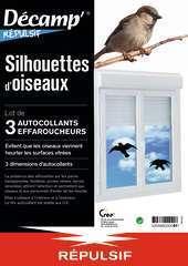 Silhouettes d'oiseaux pour éviter les collisions - Lot de 3