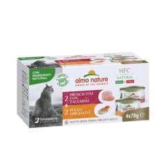 Boite pour chat 4x70g  Hfc  Natural Jambon Dinde / Poulet Grille