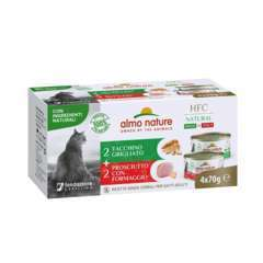 Boite pour chat 4x70g  Hfc  Natural Dinde Grillee/Jambon Fromage