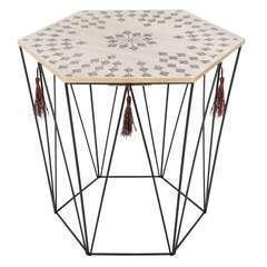 Atmosphera, créateur d'intérieur-Table à café en métal Kumi Octo Etnik