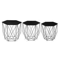 Atmosphera, créateur d'intérieur-Ensemble de 3 tables à café Kumi Octo