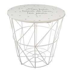 Atmosphera, créateur d'intérieur-Table de rangement Kumi blanc pour en