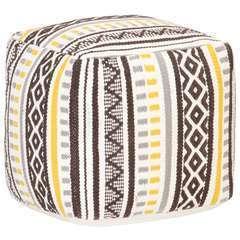 Pouf Design tissé Multicolore Coton - 45x45x45cm