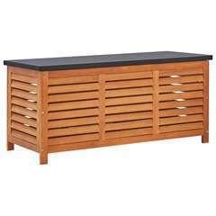 Boîte de rangement de jardin 117x50x55 cm Eucalyptus solide