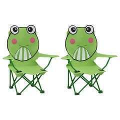 Chaises de jardin pour enfants 2 pcs Vert Tissu