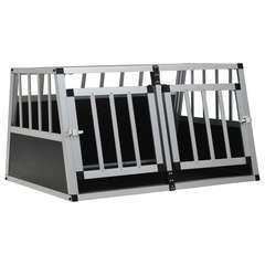 Cage pour chien à double porte - 89 x 69 x 50 cm